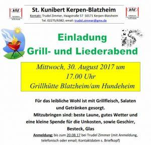 Grill- und Liederabend der KFD
