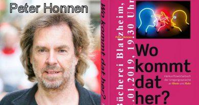 """""""Wo kommt dat her?"""" – Autorenlesung mit Peter Honnen"""