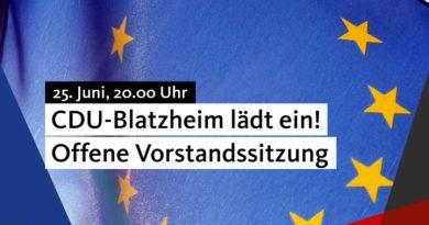 Offene Vorstandssitzung der CDU-Blatzheim