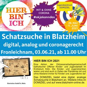 Hier bin ich - Schatzsuche in Blatzheim @ Kinder- und Jugendzentrum DOMIZIEL | Kerpen | Nordrhein-Westfalen | Deutschland